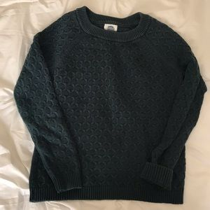 Forest Green Chunky Knit Old Navy Sweater